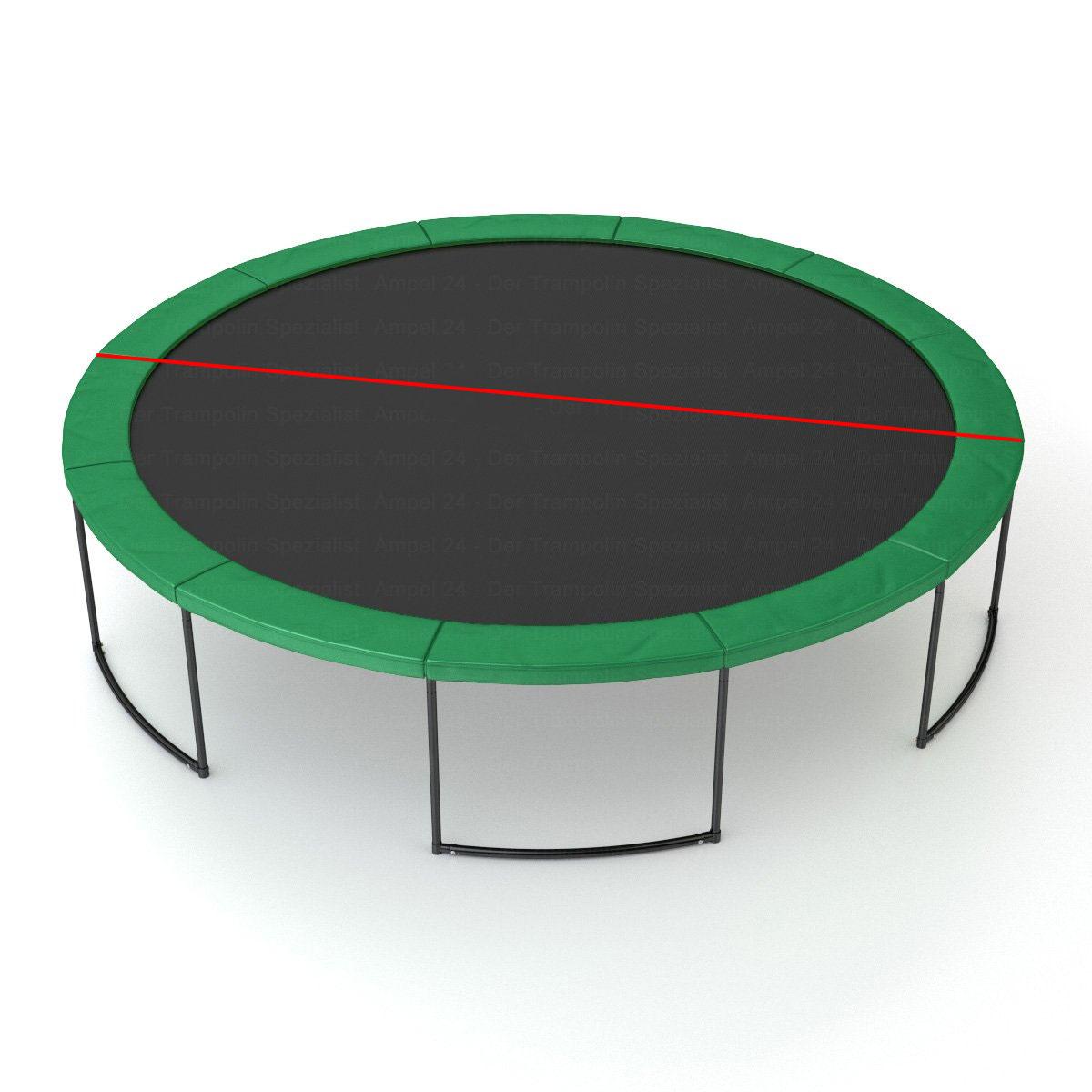 Sådan måles bredde på trampolinen